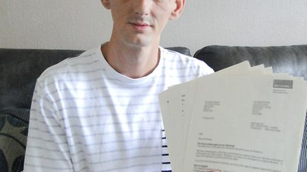 Jamie Parker was horrified to discover the pages of detailed medical records sent to him were not hi