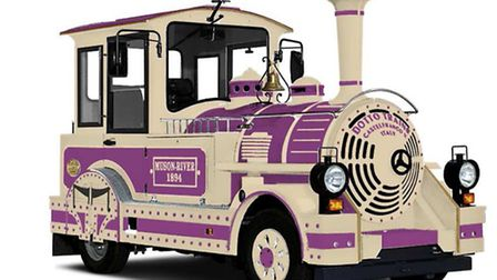 A Dotto land train, similar to one which should be on the streets of Ilfracombe this November after