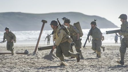 Woolacombe beach, Devon turned into a battlefield at the weekend when American GI re-enactors carrie