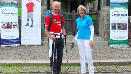 James Cook pictured with his wife Marcia shortly before setting off from Chittlehampton yesterday (M