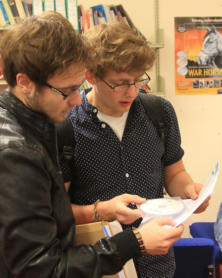 Ilfracombe students Matt McKee and Sam Grills take a look at the culmination of two year's work.