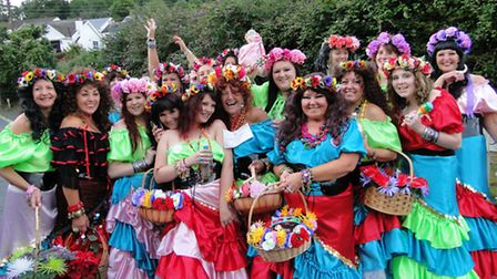 Scenes from Combe Martin Carnival parade 2013. To order this picture, click on the 'readers photos'