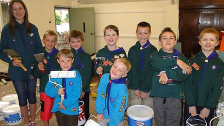 The 1st Ilfracombe Scouts have been busy working on their new hut, but are appealing for help with m