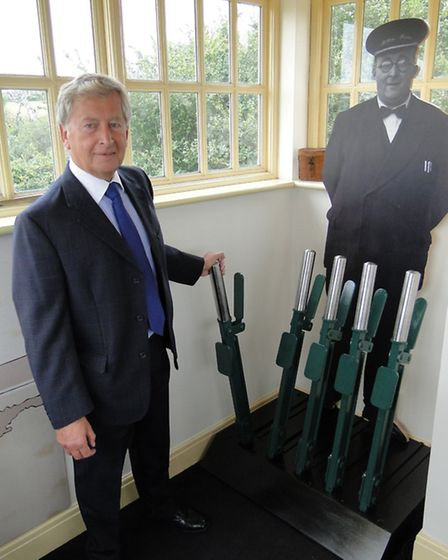 Rodney Cann, chairman of the Fremington Quay Environment Trust in the newly refurbished look out at