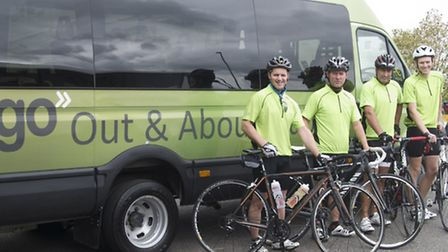 Getting ready to tame the Exmoor Beast for Go North Devon's Out & About Club are Dave Hold, Matt Tho