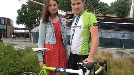 Natasha Slee and Dan Sparrow will be taking on the Three Peaks Challenge - with bicycle - for the Ch