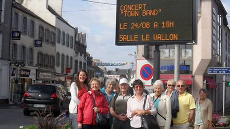 The band was pleased to see its concerts advertised in France.