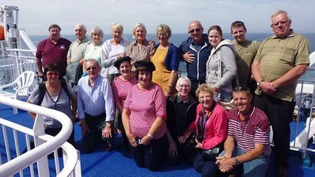 Bideford Town Band on the ferry as it made its way to Landivisiau.