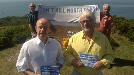 Conservative prospective parliamentary candidate Peter Heaton-Jones and Steve Crowther, chairman of