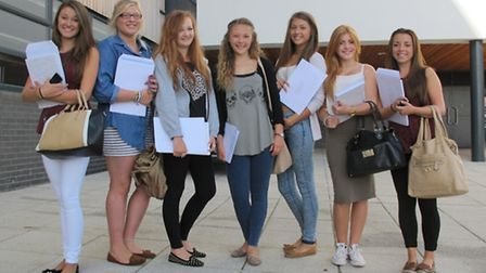 Happy students from Bideford College