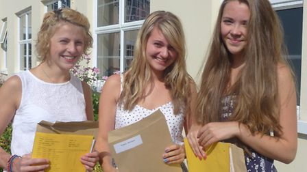 South Molton Community College's Rebekkah Hoskin, Michaela Rogers and Lizzy Tomkinson