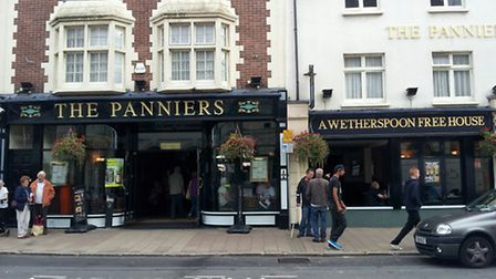The Panniers in Barnstaple will be offering cut price food and drink for a day.