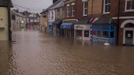 The flooding in Braunton in December last year left affected as many as 200 homes and businesses. Pi