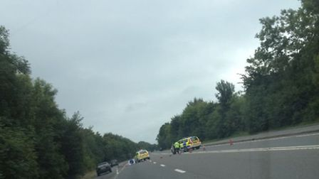 The scene of the accident earlier today (Thurs). Pic: Zoe Young.