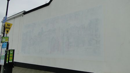 The mural in Westward Ho! has been painted over.