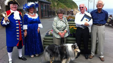 Hele residents including Ilfracombe Town Crier Roy Goodwin, his wife Bea, Ann Jones and Louis Lucas