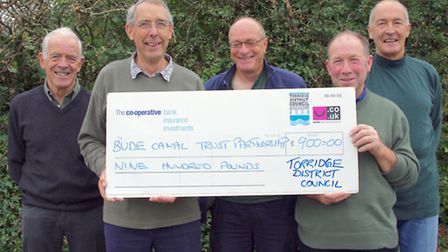 Trustees Paul Clever, Tim Dingle, Mike Degan and Chair Steve Church with Cllr Ken James representing