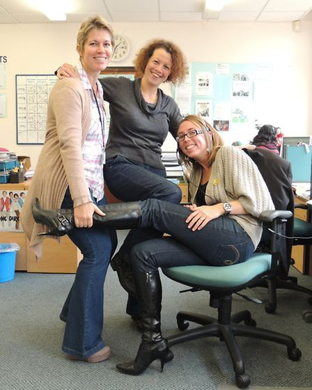 North Devon Council's customer service team wearing their jeans for genes.