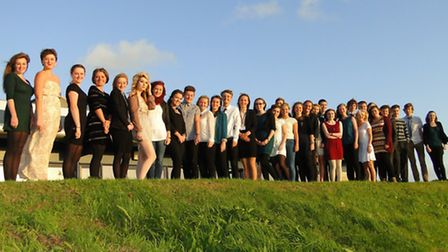 The high achieving students of Ilfracombe Academy gather at the start of the school's Academic Excel