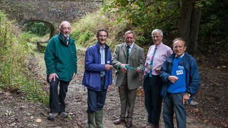 Official opening of the new 1km walking path alongside the Rolle Canal near Torrington. L-R Graeme H
