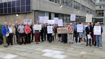 Members of the newly formed protest alliance came out in force ahead of North Devon District Council