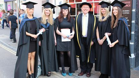 Petroc staff and foundation degree graduates, who joined the college as apprentices in 2009. Picture