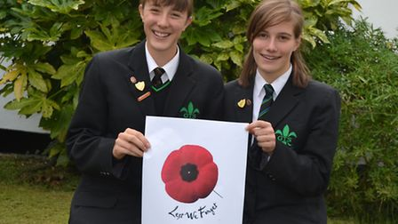 Sara-Jane Vanstone and Elizabeth Ward, year 11 pupil at Great Torrington School who are involved in