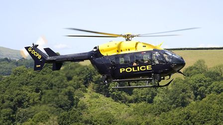 The police helicopter was involved in last night's search.