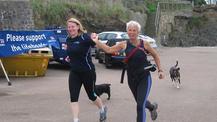 Nicky Hodge, Jess Gierke (and Damson the dog) ran home in 4hrs 10mins