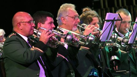 Appledore band are pictured performing at the Exmouth Brass Band Festival in the Exmouth Pavilion on