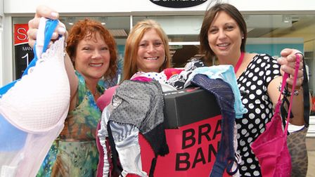 Gaenor Barker, Karen Black and Sarah Mawson are urging ladies to continue to donate unwanted bras to
