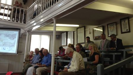 Around 50 people attended the meeting today (Tuesday).