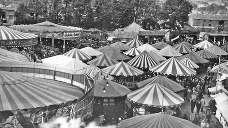 Barnstaple pleasure fair, pictured here in 1934, was situated at North Walk from 1877. It moved to S