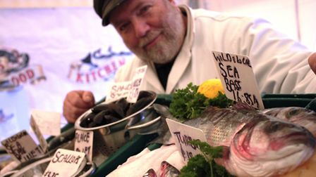 Dan 'the Fishman' Garnett will be at the Taste of the West Foodfest on Sunday. Pic: RHS Rosemoor.