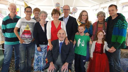 Reginald Benger celebrated his 100th birthday on Friday surrounded by his children, grandchildren an