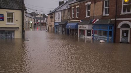 The flooding in Braunton in December last year. Pic: Tony Howells.