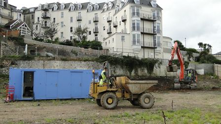 Work underway at the site of the new Ilfracombe Wetherspoon pub - which will be called The Admiral C