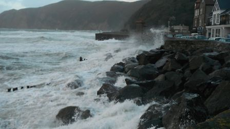 Scenes from Lynmouth seafront on Saturday afternoon.