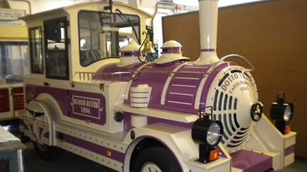 The Ilfracombe Dotto train being manufactured and put through its paces at the company factory in Ca