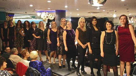 The volunteer models on the catwalk at the WAND Fashion Show hosted by M&Co in Green Lanes Shopping