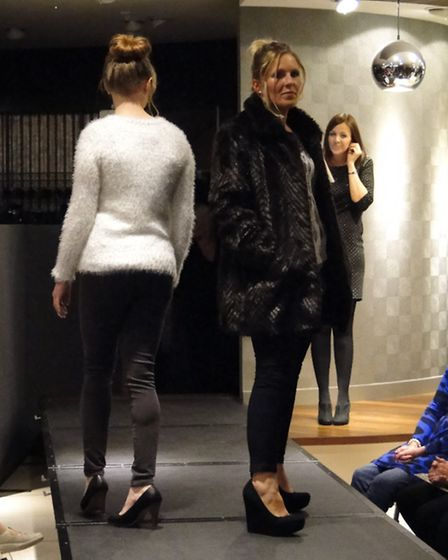 On the catwalk at the M&Co WAND fashion show in Green Lanes, Barnstaple.