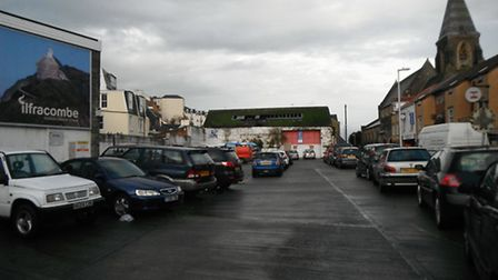 'Sale agreed': Ilfracombe's old bus station site.