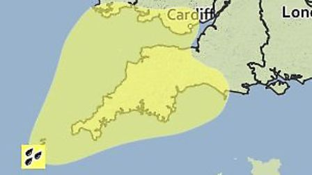 The Met Office has issued a weather warning for Friday.
