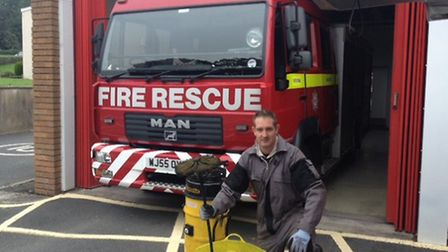 Fire fighter Lee Shepherd is also a registered chimney sweep and is urging people to keep their home