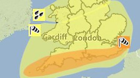 The South West prepares for high winds on Monday. (Pic: Met Office)