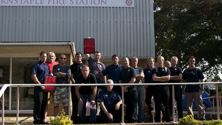 There will be no repeat of the walkout staged at Barnstaple fire station during the strike in Septem