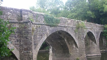 The ancient stones were taken from the Rothern Bridge in Torrington.