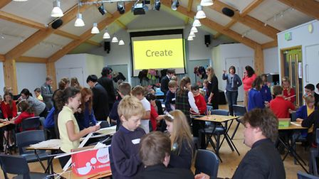 Children from a number of local schools enjoying a Strictly Science fun day at Shebbear College.