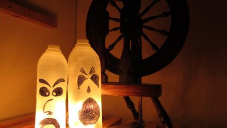 Try your hand at summoning milk bottle ghosts in the Arlington Court Halloween fun sessions.