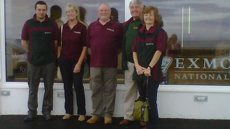 Exmoor National Park staff looking forward to moving into new premises at the National Park Centre i